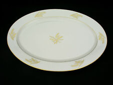 "LENOX HARVEST (GOLD WHEAT) - 17 3/8"" OVAL SERVING PLATTER - USA - EXCELLENT COND"
