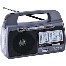 9-Band AM/FM/SW 1–7 Portable Radio