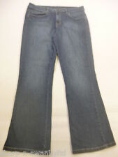 ☆ Ladies Indigo Blue Denim Flared Jeans Trousers UK 14 UK 42 L29 ☆