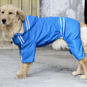 Large Pet Dog Waterproof Rain Jacket Raincoat Clothes Jumpsuit Rain Coat Hoodies