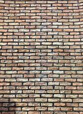 1/10 1/12 diorama Rustic Multi Shades    Brickwork ( 5 x A4 sheets) 0179