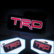 TRD Car Front Hood Grille Emblem LED Light for Toyota Corolla Camry Tundra Etc.