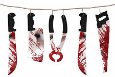 Bloody Weapons Garland Decoration Scary Outdoor Halloween Party Decoration Props