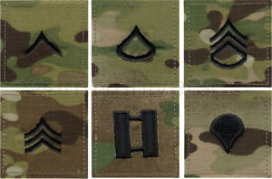 Multi Cam Camouflage Military Rank Rip-Stop Insignia Patch USA Made