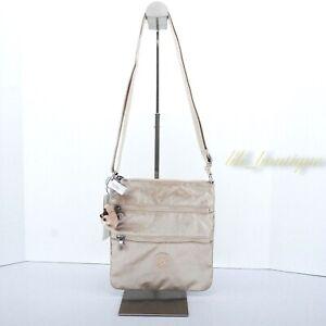NWT Kipling AC8103 Keiko Crossbody Shoulder Mini Bag Nylon Starry Gold Metallic