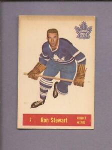 1957-58  PARKHURST  # T7  RON STEWART  Toronto Maple Leafs   EX-NR MT