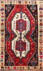 Tribal Geometric Abadeh Traditional Area Rug Hand-knotted Oriental Carpet 4x6 ft