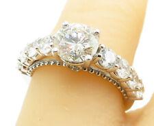 2.40ctw Genuine Round J/SI1 Diamonds in 14K White Gold Ring 4.2g - Sz 6.5