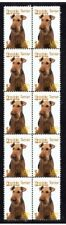 AIREDALE TERRIER YEAR OF THE DOG STRIP OF 10 MINT STAMPS 1
