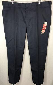 NWT Mens DICKIES Navy Blue 874 Original Fit Work Pants Size 46x30