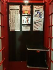 RED TELEPHONE BOX INTERIOR STYLED ON THE CLASSIC JUBILEE  K6  BOOTH KIOSK PHONE