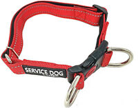 ALBCORP Reflective Service Dog Collar - Service Dog Rubber Patch - Durable for