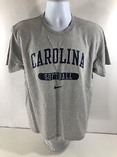 Vintage Nike North Carolina Tar Heels Softball Short Sleeve T-Shirt UNC Gray MD