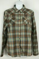 Wrangler Plaid Multi-color Long Sleeve Pearl Snap Western Shirt Womens Sz L