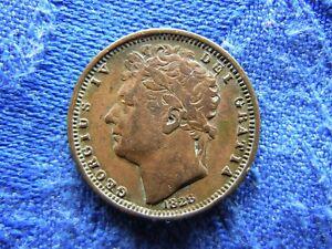 UK 1/2 FARTHING 1828, KM704.1 corroded