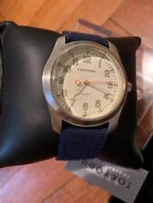 NEW TOKYO BAY Men Watch STRUCTURE BLUE CANVAS STRIP WITH SUEDE BACK SIDE