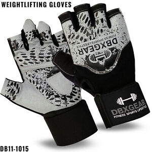 Weight Lifting Gloves Gym Workout Body Building Heavy Grip with Wrist Supports