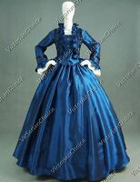 Victorian Civil War Dickens Christmas Caroler Dress Theater Cosplay Gown 170