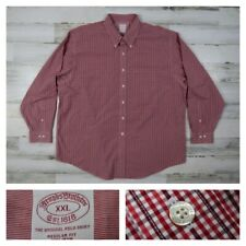 Brooks Brothers Mens XXL Red Checks Button Front Sport L/S Dress Shirt 2XL New