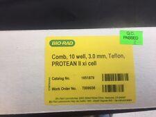 Bio-Rad Comb, Teflon, PROTEAN II xi Cell Cat # 1651879 Pkg of 1, 10-well, 3.0 mm