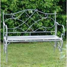 Garden Bench Lead Grey Shabby Chic Vintage Style aged  Seat