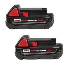 2-PACK GENUINE Milwaukee 48-11-1820 M18 18-Volt REDLITHIUM 2.0AH Battery