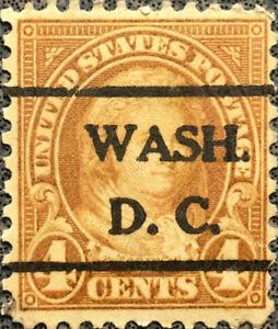 Scott #556 US 1923 4 Cent Martha Washington Precancel Postage Stamp