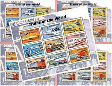 $$ wholesale $$ MONGOLIA 2000 speed TRAINS of the WORLD x5 m/s MNH