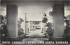 Vintage Postcard; Hotel Carillo Downtown Santa Barbara CA Mid-Century Modern