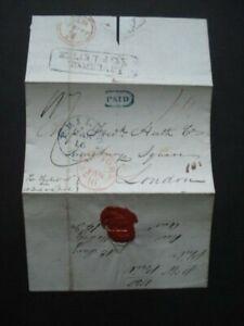 1838 USA TO LONDON VIA NEW YORK TO LIVERPOOL SHIP LETTER