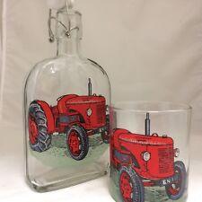 DAVID BROWN CROPMASTER  TRACTOR 500 ml SLOE GIN FLIP TOP BOTTLE & GLASS