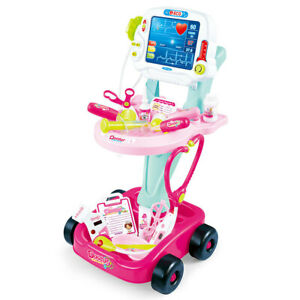 Kids Pretend Play Doctors/Nurses Medical Cart Toddler Toy/Play Lights/Sounds