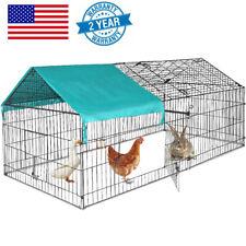 """Chicken Coop Pet Cage Metal Pen Rabbit Enclosure Brooder Tractor Cover 86"""" x 40"""""""