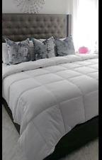 Superior Solid White Down Alternative Comforter, Duvet Insert, Medium Weight