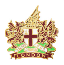 City of London Crest Coat of Arms Pin Badge