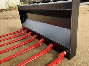 Dunggabel Mistgabel Frontladergabel Forke mit Euroaufnahme 1,20m 120cm NEU