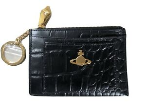 NEW WITH BOX AUTHENTIC VIVIENNE WESTWOOD VEGAN LEATHER KEY RING PURSE.