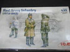 ICM 1/35 RED ARMY INFANTERY 1939 1942 FIGURES MODEL KIT PLASTIC