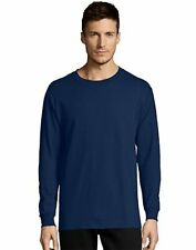 Hanes Men's Long-Sleeve T-Shirt TAGLESS Comfortsoft 100% Cotton Heavyweight 5286