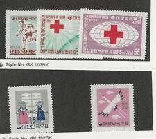 Korea, Postage Stamp, #294-296, 298, 300 Mint LH, 1959 Red Cross, Sports