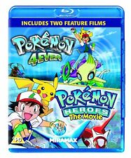 Pokemon 4ever + Pokemon Heroes  2 Movies Blu-ray Region B Forever