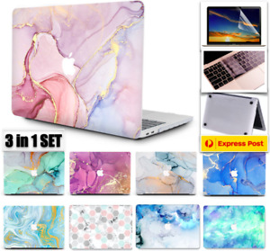 3-IN-1 SET MacBook Air 13 Inch Case Macbook Pro 13 Inch Marble Hard Shell M1