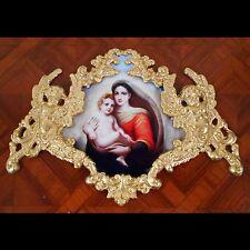 Sistine Madonna and Child. Faux Ormolu.Furniture mounts/decor.