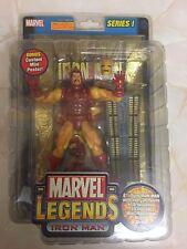 Marvel Legends Iron Man Series 1 Yellow Toybiz BNIB  Unopened