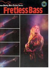 """FRETLESS BASS"" MUSIC BOOK/CD-STEVE BAILEY BASS GUITAR SERIES-METHOD-NEW ON SALE"
