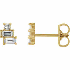 Diamond Geometric Cluster Earrings In 14K Yellow Gold (1/4 ct. tw.)