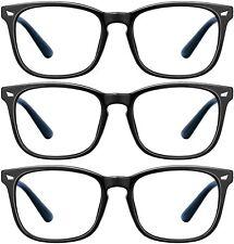 Blue Light Blocking Glasses Black 3Pack Computer Game Glasses Square Women Men