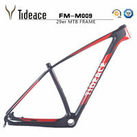 29er T800 Red Tideace Carbon Fiber Mountain Bike Frame PF30 Carbon Fahrradrahmen