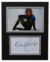 Kim Wilde Signed Autograph 10x8 photo display Music Memorabilia AFTAL COA
