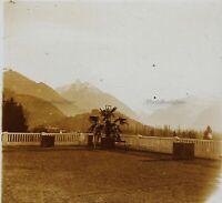 Francia Argeles La Terrasse Foto Stereo PL32P1n Placca Da Lente Vintage